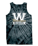 Wanaque School Cyclone Tie Dye Tank Top w/ Wanaque School
