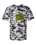 WANAQUE Cheer Camo Short Sleeve T-Shirt - 4181 w/ CHEER DAD BOW SEASON Design