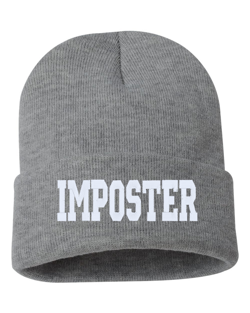 IMPOSTER Embroidered Cuffed Beanie Hat