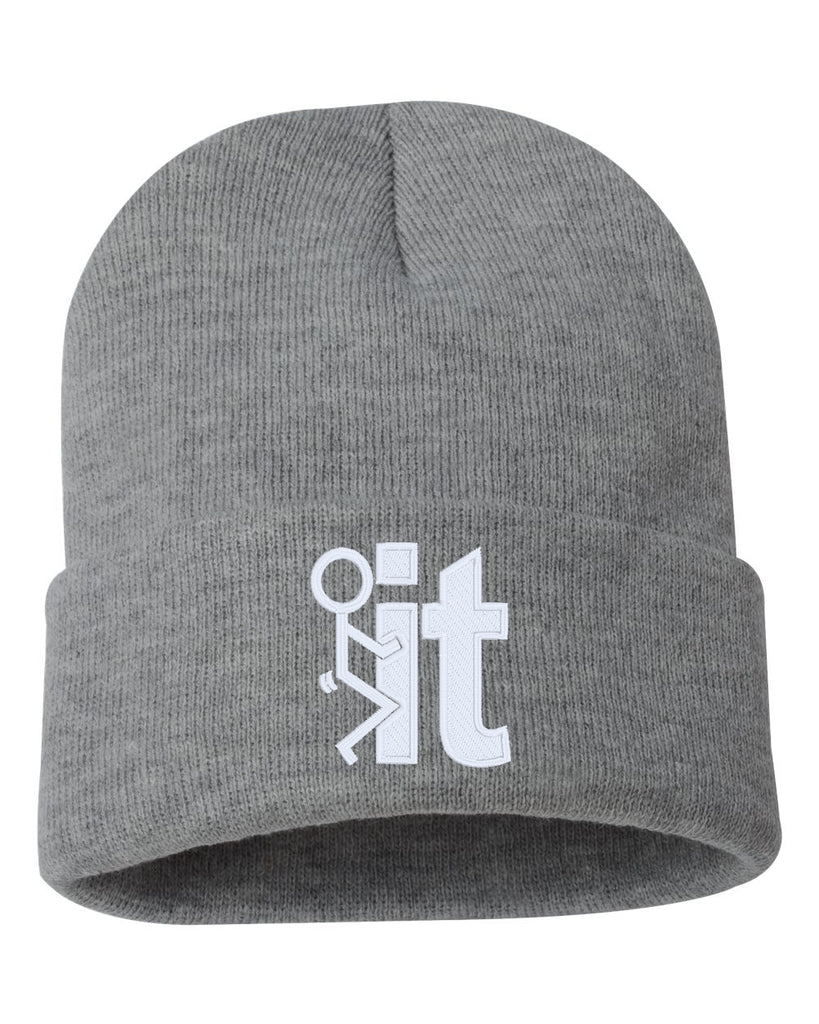 FCK IT Embroidered Cuffed Beanie Hat