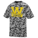 WANAQUE Black Digi Camo Wicking Short Sleeve Tee w/ WANAQUE School