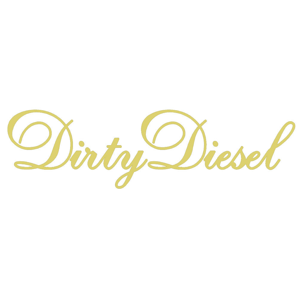 DIRTY DIESEL V1 Single Color Transfer Type Decal