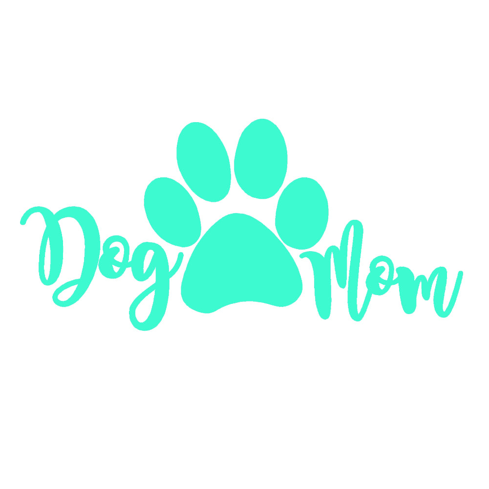 Dog Mom V3 Single Color Transfer Type Decal