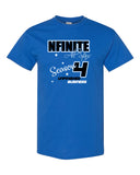 NFINITE Royal Short Sleeve Tee w/ DYNAMITE Season 4 Design Front & Back