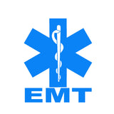 EMT Star of Life Single Color Transfer Type Decal
