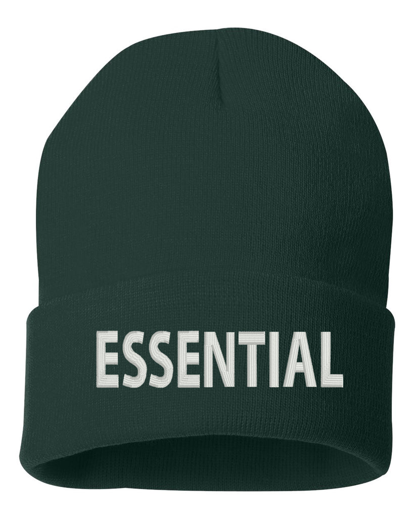Essential Worker Embroidered Cuffed Beanie Hat