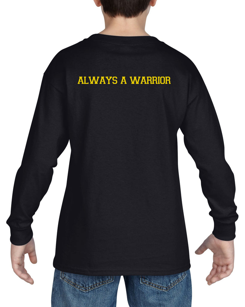 "WANAQUE School Heavy Cotton Black Long Sleeve ""FRICK"" Style #2 Tee"