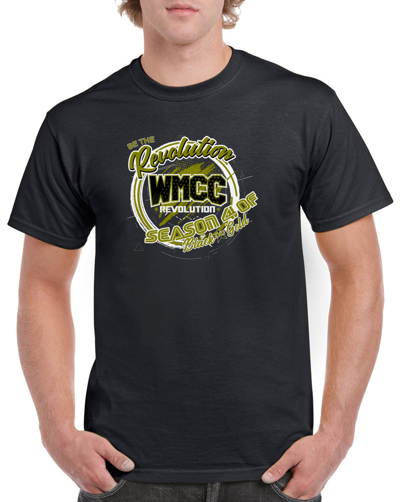 WMCC Black Short Sleeve Junior/Senior SPONSOR Tee w/ 2 Color Desing on Front and Sponsor List on Back