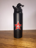 Jr. Lancers Cheer Water Bottle Tumbler - Black w/ 2 Color Star Design