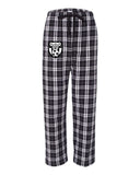 Wanaque Soccer PJ Style Flannel Pants with Wanaque Soccer Logo on Front Right Hip.