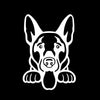 German Shepherd Peeking V1 Single Color Transfer Type Decal
