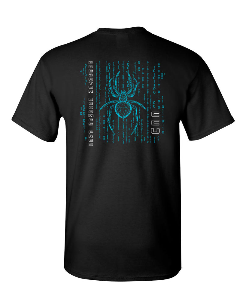 CCU Black Shirt w/ CCU Spider Logo in 2 Color Print on Back & Optional Designs on Front & Arm