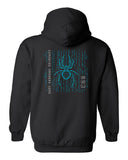 CCU Black Hoodie w/ CCU Spider Logo in 2 Color Print on Back & Optional Designs on Front & Arm