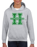 Hopatcong Hooded Sweatshirt w/ Large Front Logo Graphic in GLITTER
