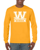 WANAQUE Heavy Cotton Gold Long Sleeve Tee w/ WANAQUE School
