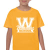 WANAQUE Heavy Cotton Gold Short Sleeve Tee w/ WANAQUE School