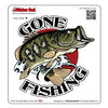 GONE FISHING 1222 Full Color 5 inch Printed Vinyl Decal Window Sticker