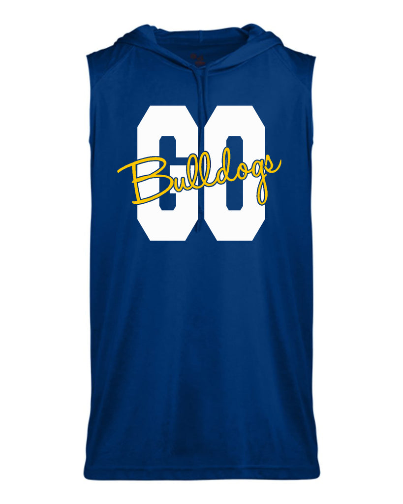 Butler Bulldogs Royal B-Core Sleeveless Hooded T-Shirt - 4108 w/ GO Bulldogs 2 Color Design
