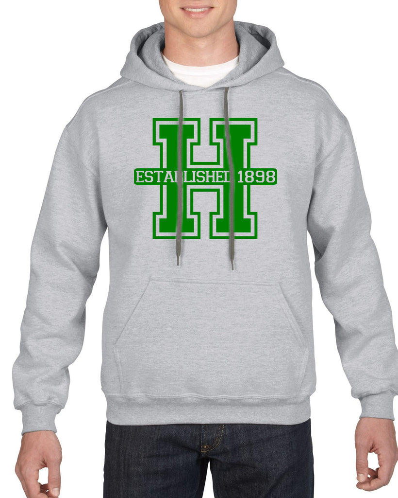 Hopatcong Hooded Sweatshirt w/ Large Front Logo Graphic Transfer Design Sweatshirt