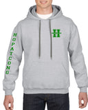 Hopatcong Hooded Sweatshirt w/ Small Chest Logo & Hopatcong Down Sleeve Graphic Transfer Design Sweatshirt