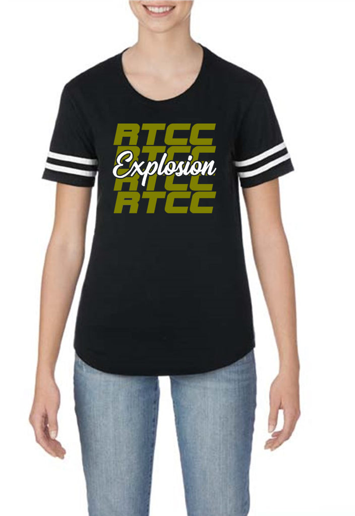 RTCC Black Victory T-Shirt w/ RTCC Explosion 2 Color Logo on Front.