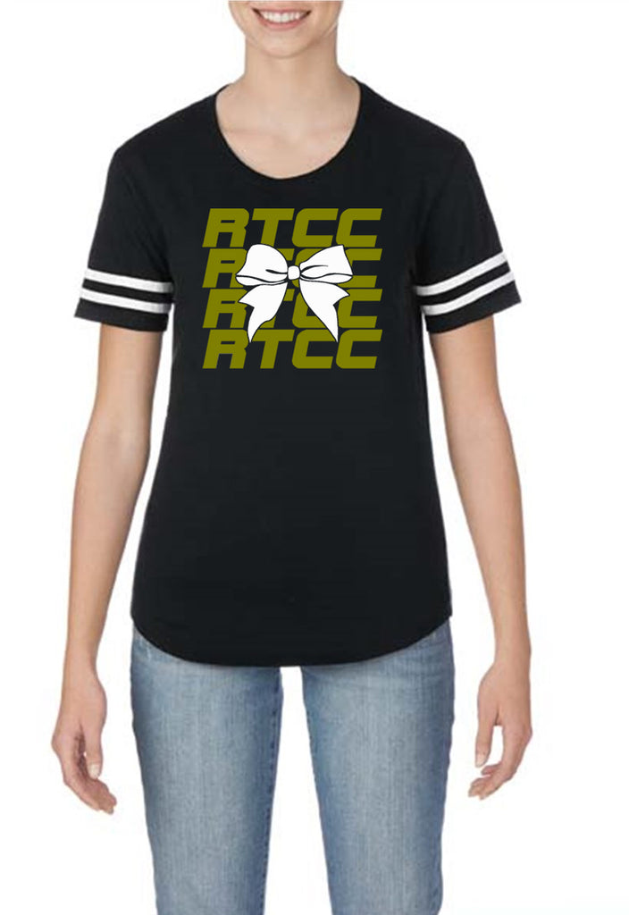 RTCC Black Victory T-Shirt w/ RTCC Bow Color Logo on Front.