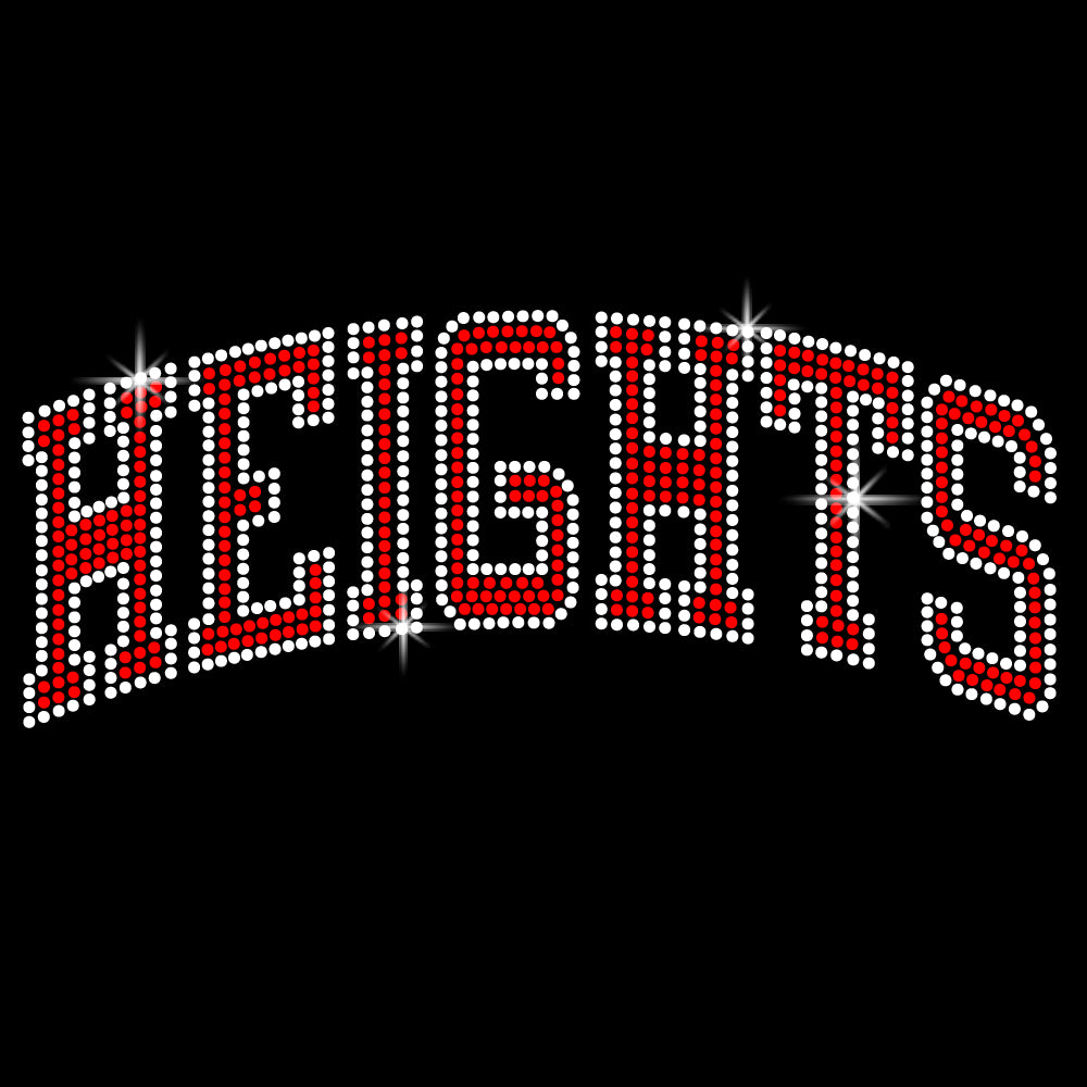 Heights Black Short Sleeve Tee w/ Heights ARC Design in SPANGLE on Front.