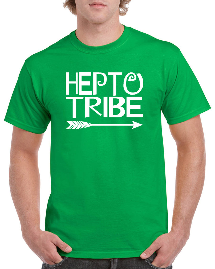 "HEPTO Short Sleeve Tee w/ Large Front ""Hepto Tribe"" Logo on Front."