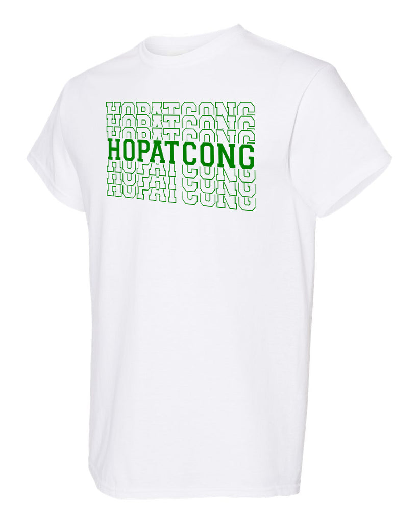 Hopatcong White Shirt w/ Hopatcong Split Design on Front