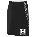 HASKELL Black Hook Shot Reversible Shorts w/ HASKELL School 2 Color