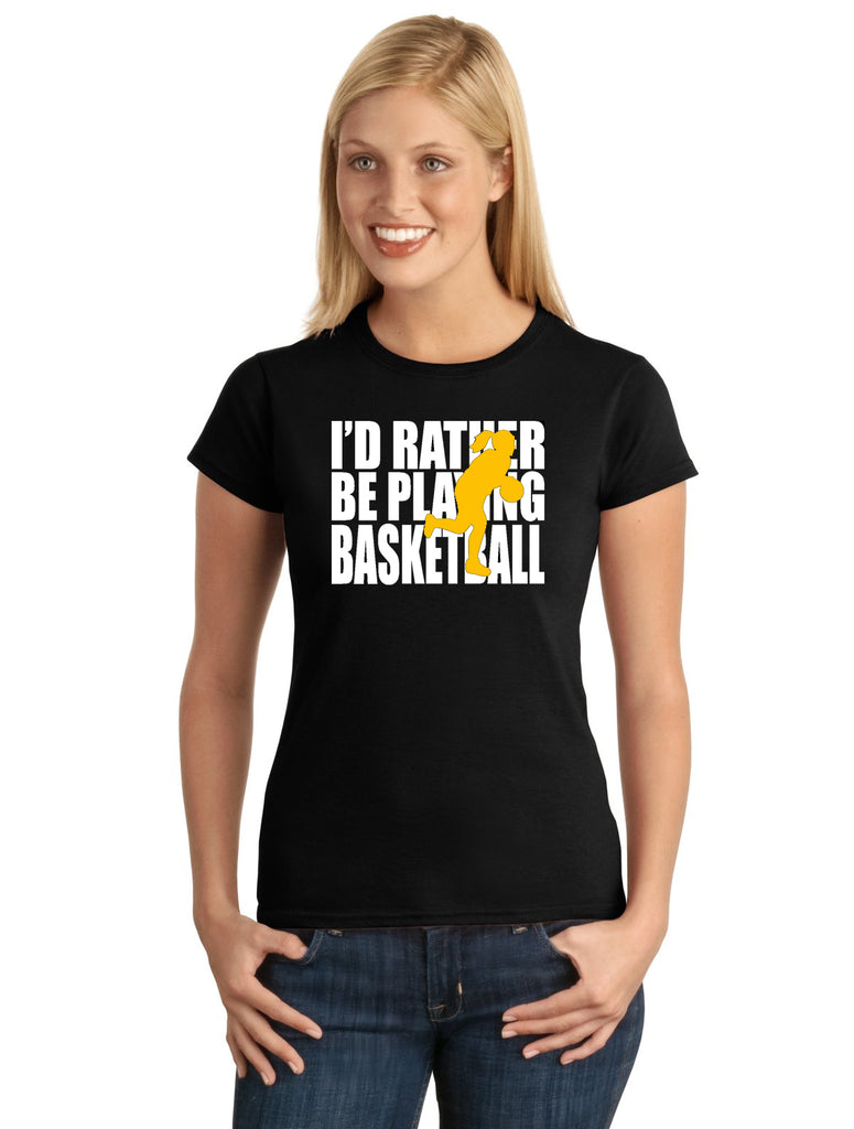 I'd Rather Be Playing Basketball (Girl) V1 Graphic Transfer Design Shirt