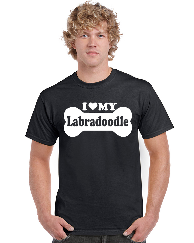 I Love My Labradoodle Bone Graphic Transfer Design Shirt