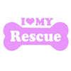 I Love My Rescue Bone Single Color Transfer Type Decal