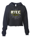 RTCC - ITC Women's Lightweight Cropped Hooded Sweatshirt with 2 color Burst Design on Front.