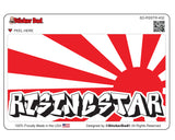 JDM RISING STAR 432 Full Color Printed Vinyl Decal Window Sticker