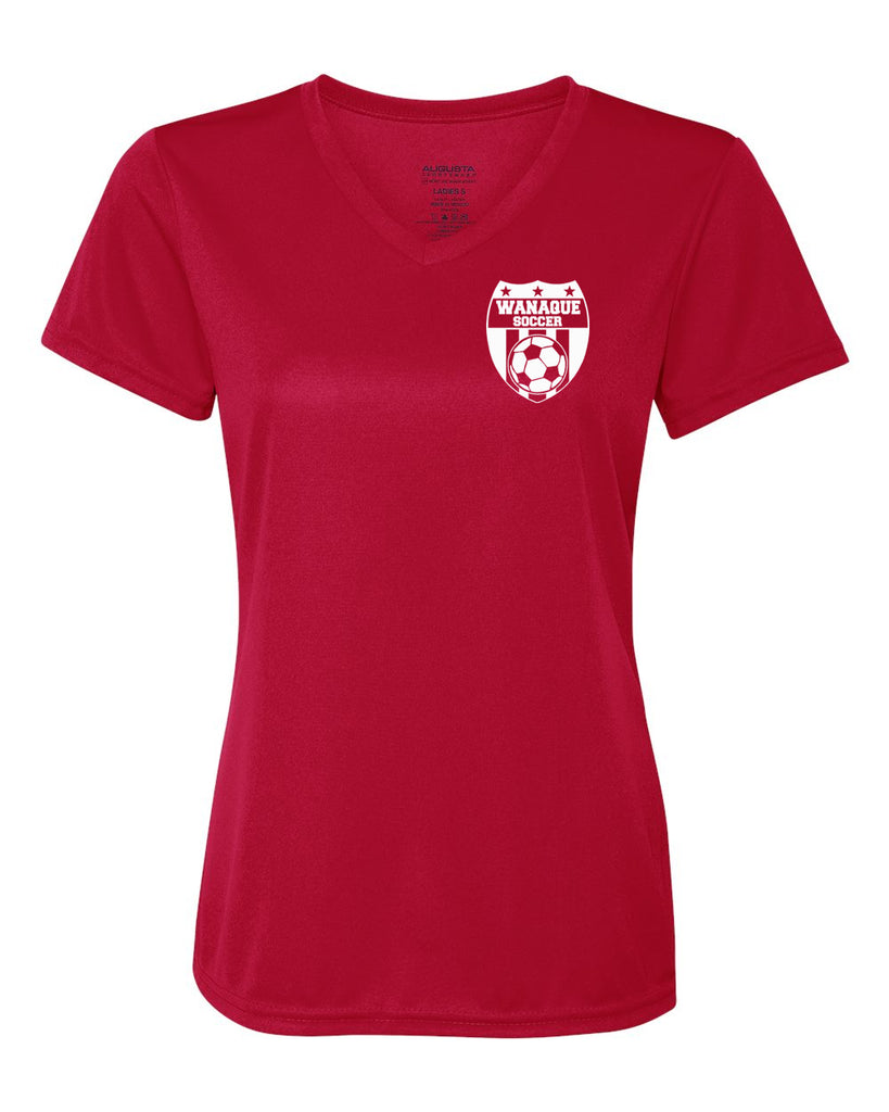 Wanaque Soccer Performance Ladies V Neck T Shirt With Small Left Chest Stickerdad Shirtmama