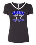 NFINITE LAT - Retro Ringer Fine Jersey Tee - 6932 w/ NFINITE Arc Star Logo on Front.