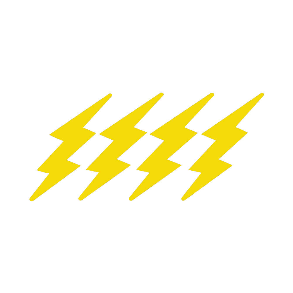 LIGHTNING BOLTS 4 PACK V1 Single Color Transfer Type Decal
