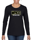 WMCC Black Long Sleeve Tee w/ WMCC Logo on Front & MOM on back.