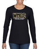 WMCC Black Long Sleeve Tee w/ WMCC Logo in 3 Color GLITTER on Front.