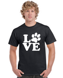 Love Paw Dog/Cat Graphic Transfer Design Shirt