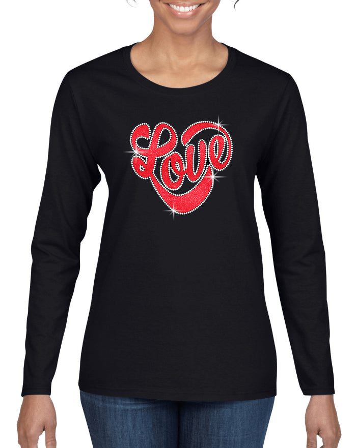 Love Script V1 Mixed Media Design Shirt