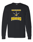 West Milford Fencing Black Long Sleeve Tee w/ WM Tri Design on Front.