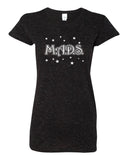 MADS Black Glitter Crew T-Shirt w/ MADS Stars Design on Front.
