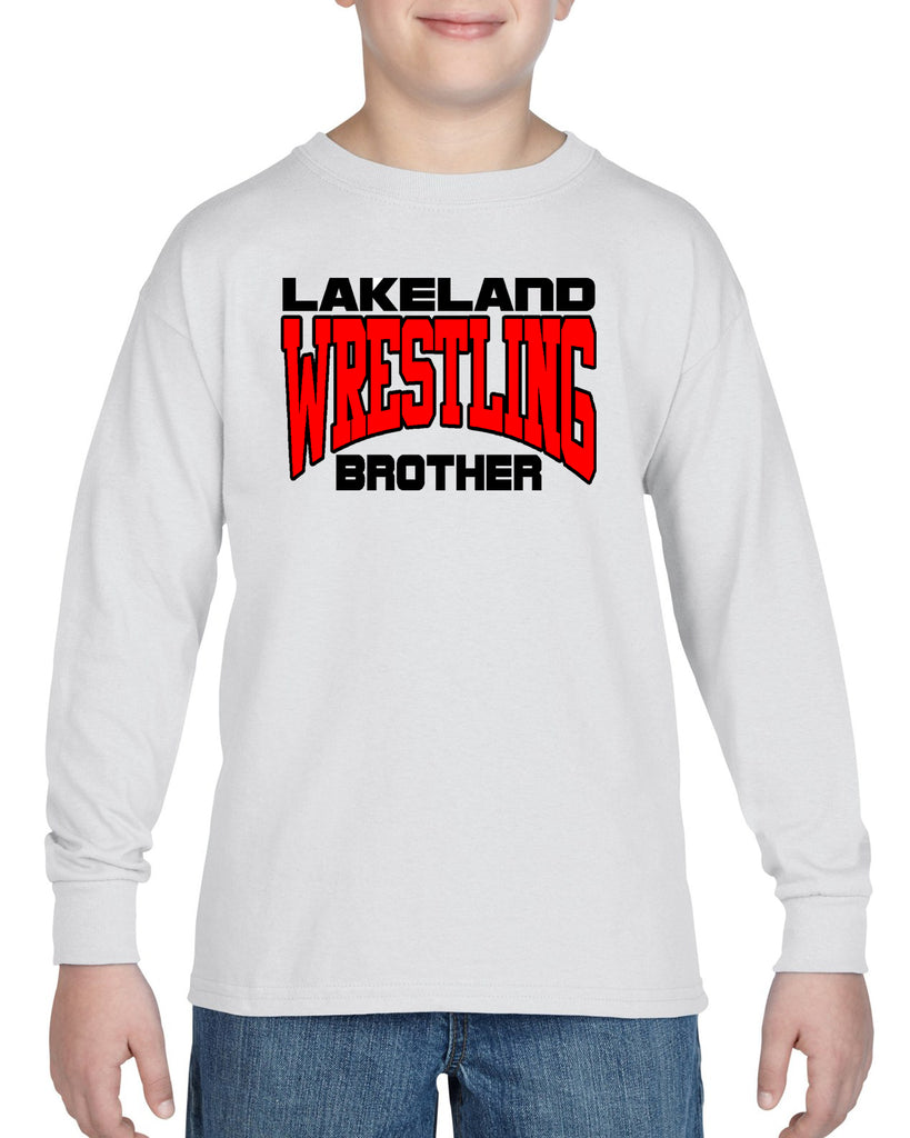 Lakeland Wrestling Heavy Blend Shirt w/ Lakeland Wrestling Brother logo on Front.
