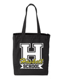HASKELL School Black 10 Ounce Gusseted Cotton Canvas Tote w/ HASKELL School