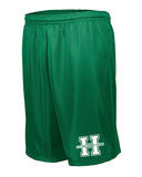 Hopatcong Green Longer Length Tricot Mesh Shorts w/ Hopatcong