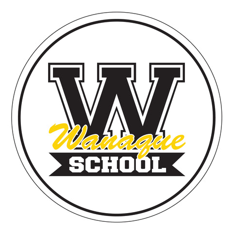 "WANAQUE 6006 Classic Snapback Cap w/ WANAQUE School ""W"" Logo on Front."