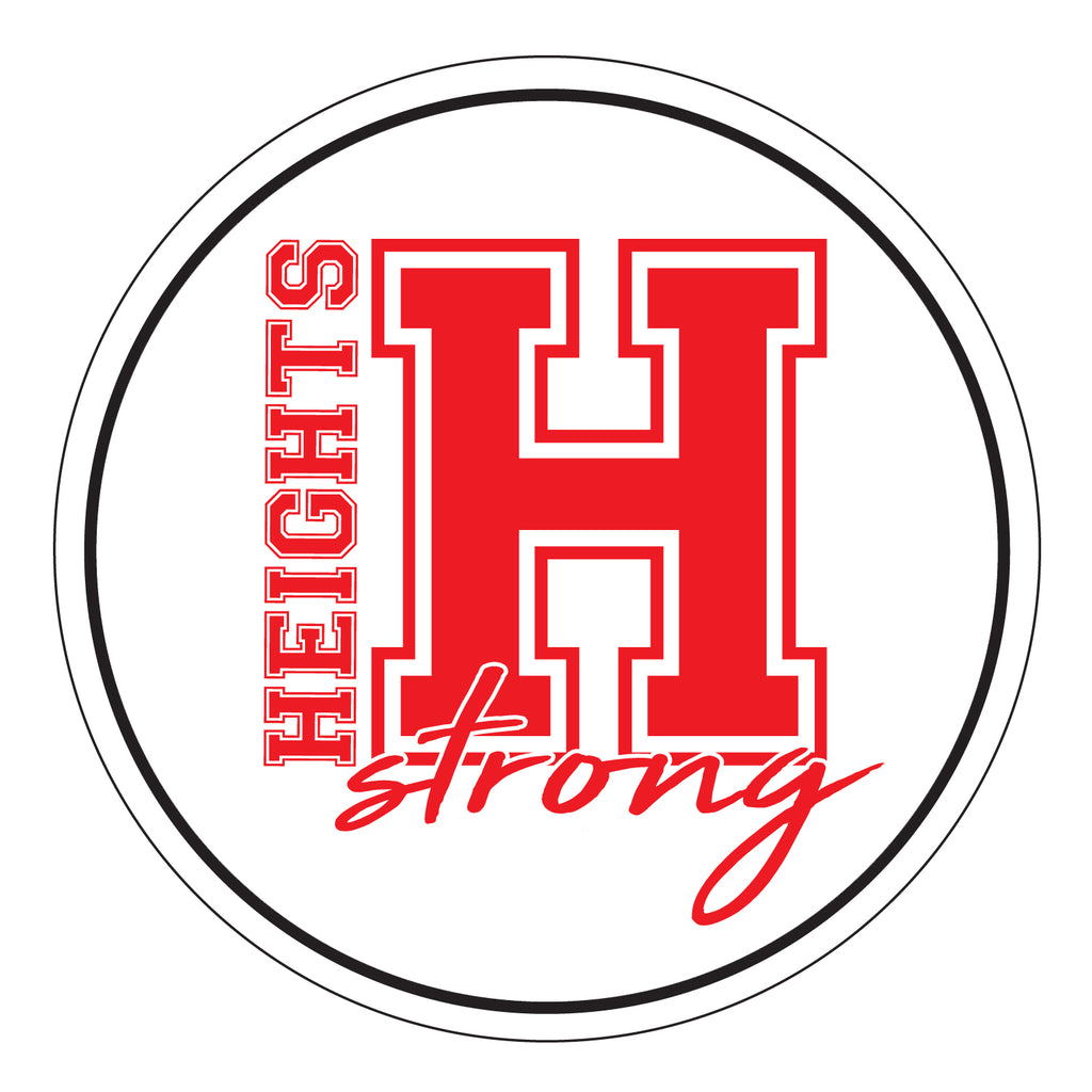 "Heights STRONG Design -  5.5"" Round Magnet"