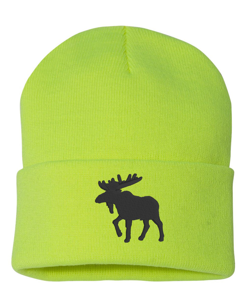 MOOSE Embroidered Cuffed Beanie Hat